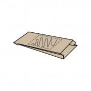 Insteekzak papier, 15 x (6) x 29 cm, kraft bruin, 1 zijde bedrukt