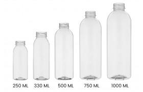 Sap & smoothie flessen PET, leeg (10)