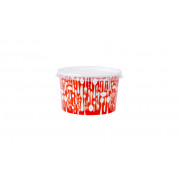 Soup cup met deksel, enkelwandig 480ml/16oz, soepbeker