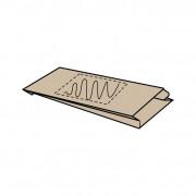 Insteekzak papier, 18 x (8) x 34 cm, kraft bruin, 1 zijde bedrukt